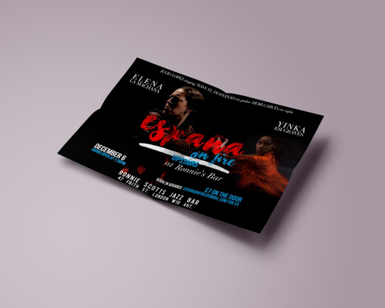 Flyer para España con Yinka Graves
