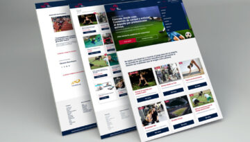 Web Mockup 360 sports