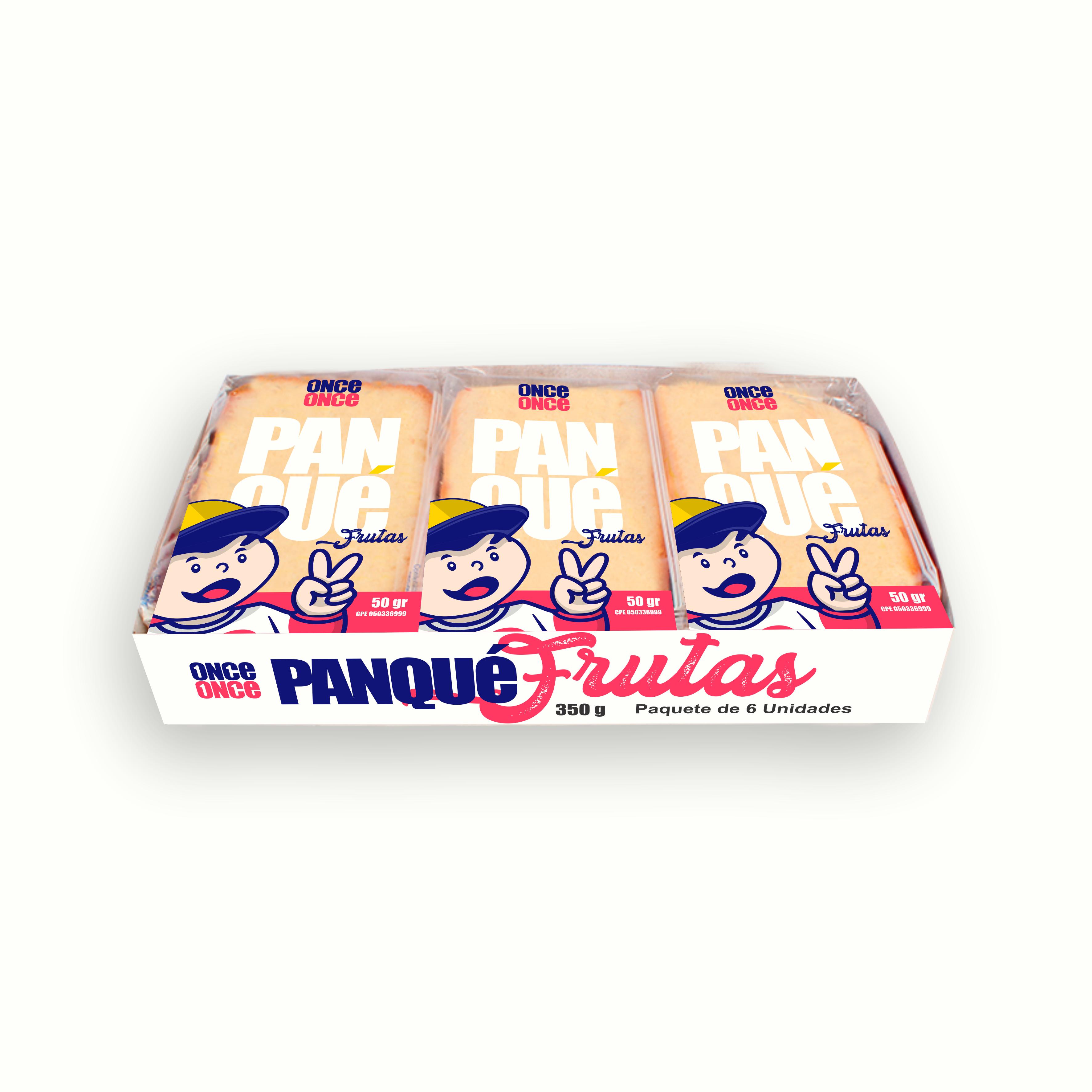 ONCE ONCE - Box - 03 - Panqué - 00 - 02 - 350 G Paquete de 6 Unidades